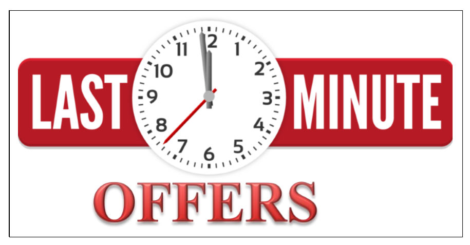 Last minute offers